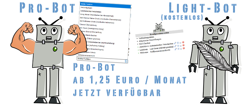 Teamspeak 3 Bot in der Pro und Light-Version